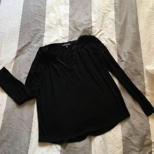 long sleeve black cable and gauge shirt